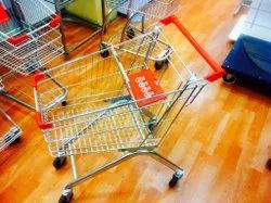 Adequate Steel Four-Wheel Shopping Trolley 125 Ltr, Load Capacity: 150 Kg