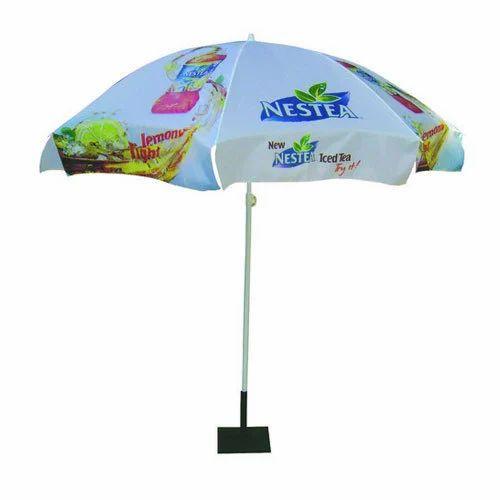 Polyester Printed Garden Patio Base Stand Umbrella