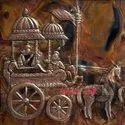 Village Girls on Handmade Copper Sheet Mural Home Decoration Wall Art