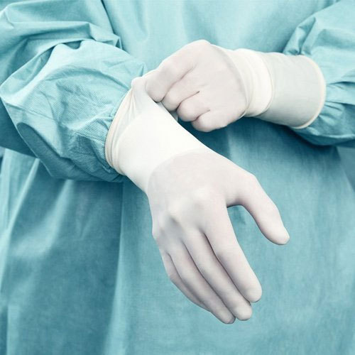 Mediserve White Latex Surgical Hand Gloves, Packaging Type: Box