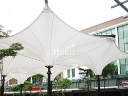 PVC Tensile Inverted Cone Structure