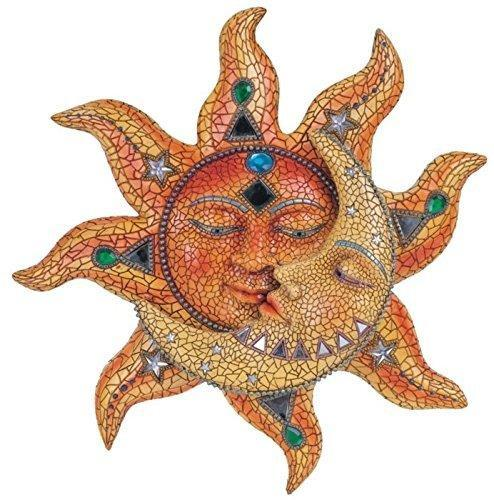 Gift Article Sun With Yellow Mosaic Moon, Size :17.8 X 17.8 X 33 cm