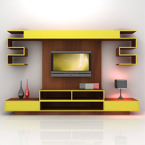 Durian Yellow Modular Lcd Tv Cabinet