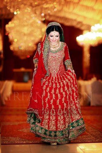 Bridal Tail Gown Sharara Gharara Tailcut Wedding Dresses