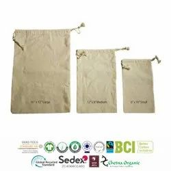 Grs Certified Recycle Cotton Muslin Bags
