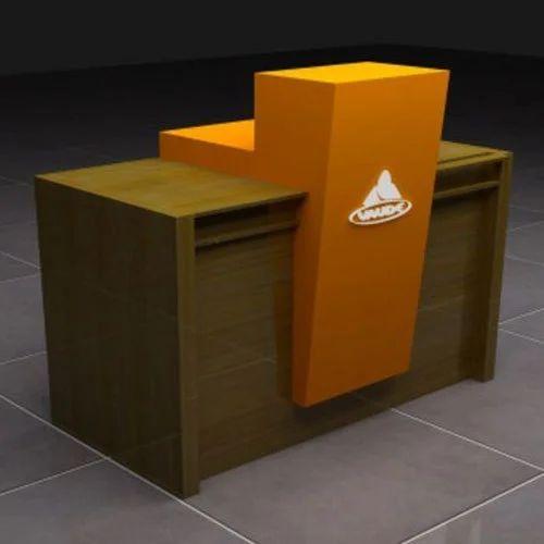 Acrylic Wooden Cash Counter