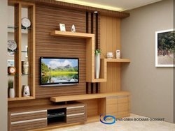 Wall Mounted Wooden LCD TV Unit