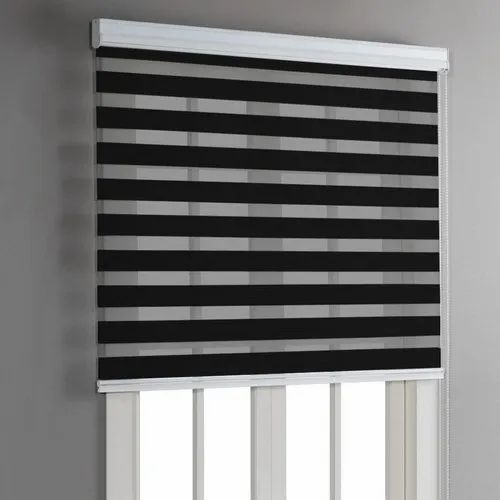 PVC Black And White Window Roller Blinds, For Home,Office