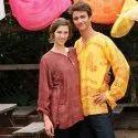 Men & Women Rayon Multicolor Printed Kurta