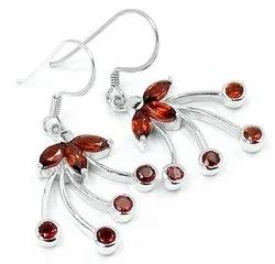 Garnet Earrings Jewelry