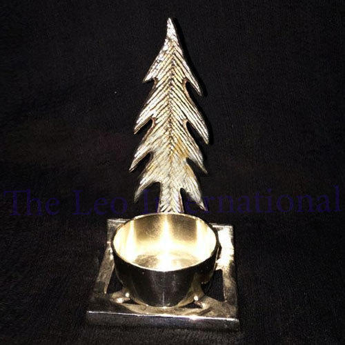 silver color aluminium christmas tree tea light holder for christmas decoration - Aluminium Christmas Tree
