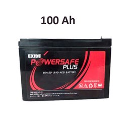 EP 100-12 Exide Lead Acid SMF Battery, Voltage: 12V