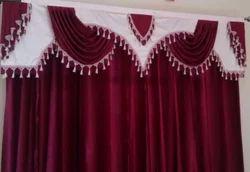 Red White Designer Curtain