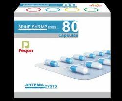 Peqon Artemia Cyst (Brineshrimp Egg), Packaging Type: Cartoon Box, 80 Capsules