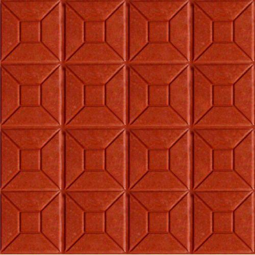 Red Concrete Floor Tiles 10 15 Mm