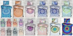 Floral Ombre Mandala Printed Twin Bed Sheet