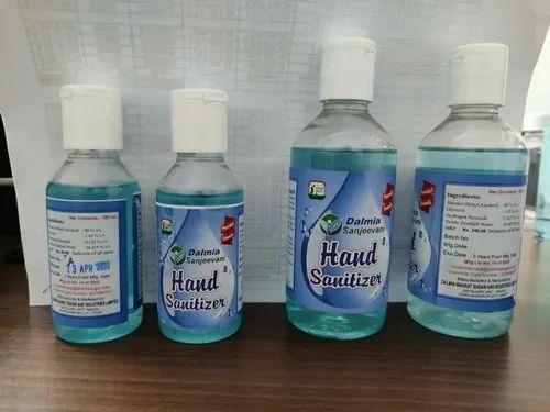 Dalmia 80% Ethyl Alcohol Based Hand Sanitizer 100Ml, Min Qty 1000 Nos