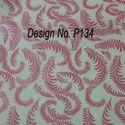 P134 Non Woven Metallic Printed Fabric