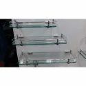 Stainless Steel Glass Corner Shelf