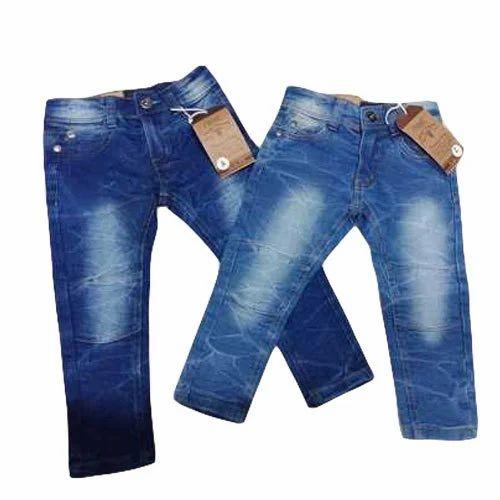 e9dcb5da2 Blue Casual Wear Kids Boy Faded Denim Jeans, Rs 250 /piece | ID ...