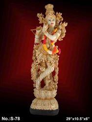 Shriji Brown Resin Hindu God Statues, Packaging Type: White Corrugated Box