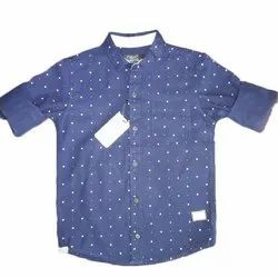 Next Casual Wear Kids Blue Casual Dotted Shirt