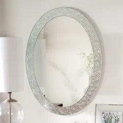 Smpale Fream Glass Mirror