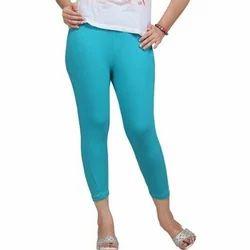 Lysha Sky Blue Ladies Plain Cotton Legging
