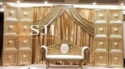 Gold Carving Sofa for Wedding