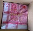 Red Embroidery Haji Rumal, Gental Hand Wash, Size: 58*58