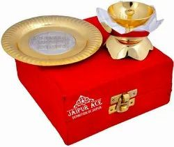Silver and Gold Plated Brass Diya