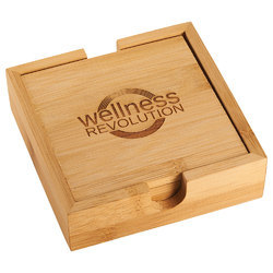 Wooden Square Tea Coasters