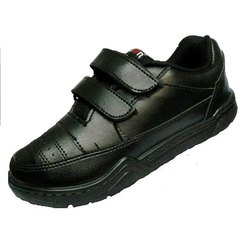 Boys Action Black School Shoes, Size: 7-10