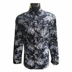 Cotton Full Sleeve Mens Floral Print Shirt