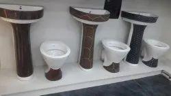 Curo Ceramic Designer Pedastal Basin, For Bathroom