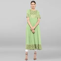 Light Green Poly Crepe Kurta