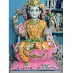 Seating Marble Laxmi Mata Statue