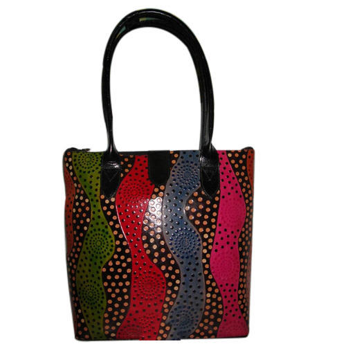 3f47c9ecc397 Printed Shantiniketan Leather Ladies Handbags