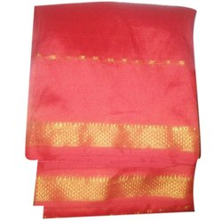 Half fine Zari Gold Designer Pattu Saree, Machine Made, 6 m (with blouse piece)