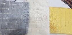 Chanderi Silk Jari Checks Fabric