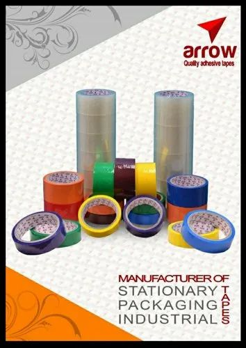 Plain BOPP Coloured Cello Tape, Packaging Type: Roll, Thickness: 38-55 Micron