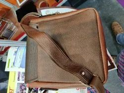 Lookler Brown Masanger Bags Leather