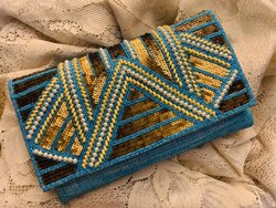 Rectangular Jute Clutch Bag