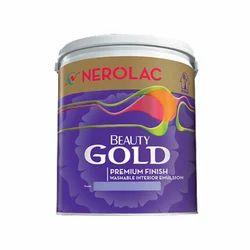 Matt Nerolac Beauty Gold Premium Finish Interior Emulsion Wall Paint, Packaging Type: Bucket