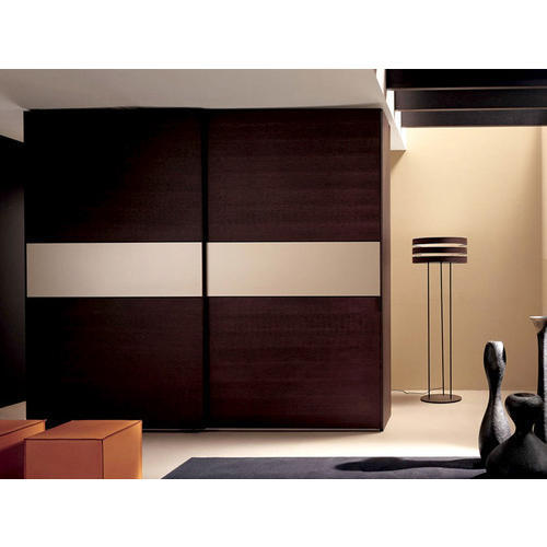 Buy Modular Kitchens And Wardrobes In Gurgaon Delhi Ncr: Brown Wooden Sliding Almirah, Height: 8 Feet, Rs 96000