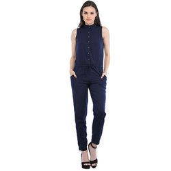 Cottinfab Women's Solid Jumpsuit