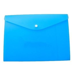 Plastic Blue Button File Folder, Paper Size: A4, Packaging Type: Packet