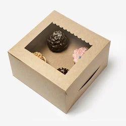3K Four Cupcake Box with Window & Insert