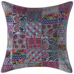 Designer Patchwork Cushion Cover