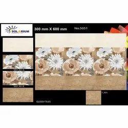 Solarium Rectangular Floral Printed Ceramic Wall Tiles, Size: 24 x 12 inch (600x300 mm)